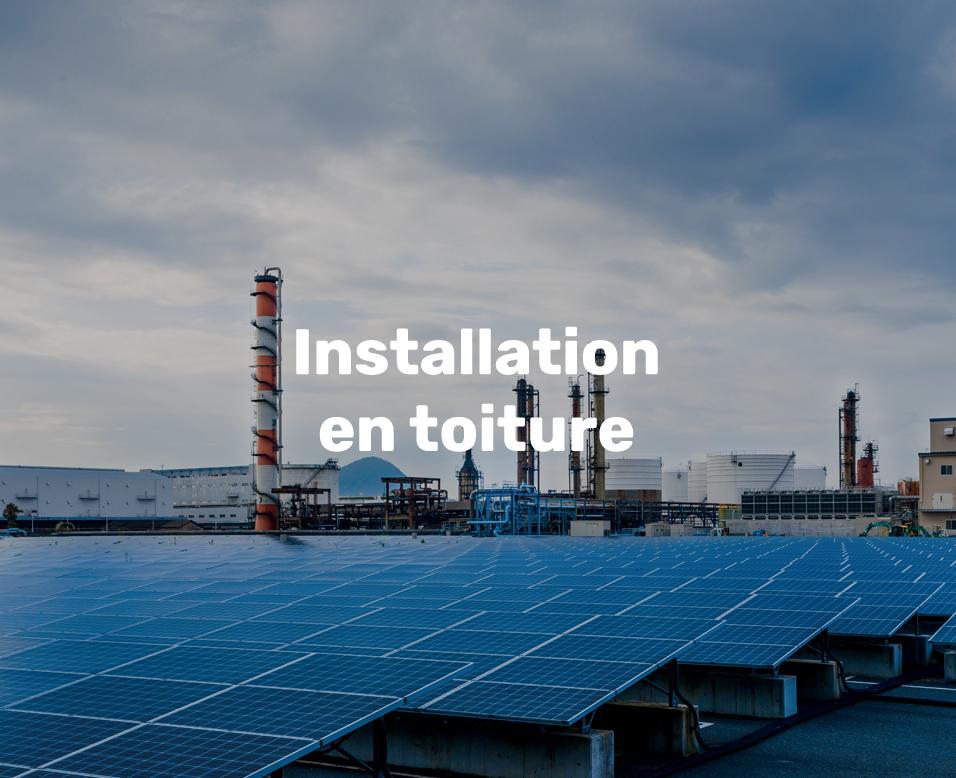 électricité solaire installations en toitures