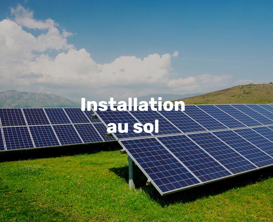 Sunti électricité solaire installation au sol